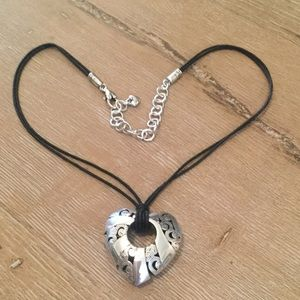 Brighton Heart Necklace Leather Strap
